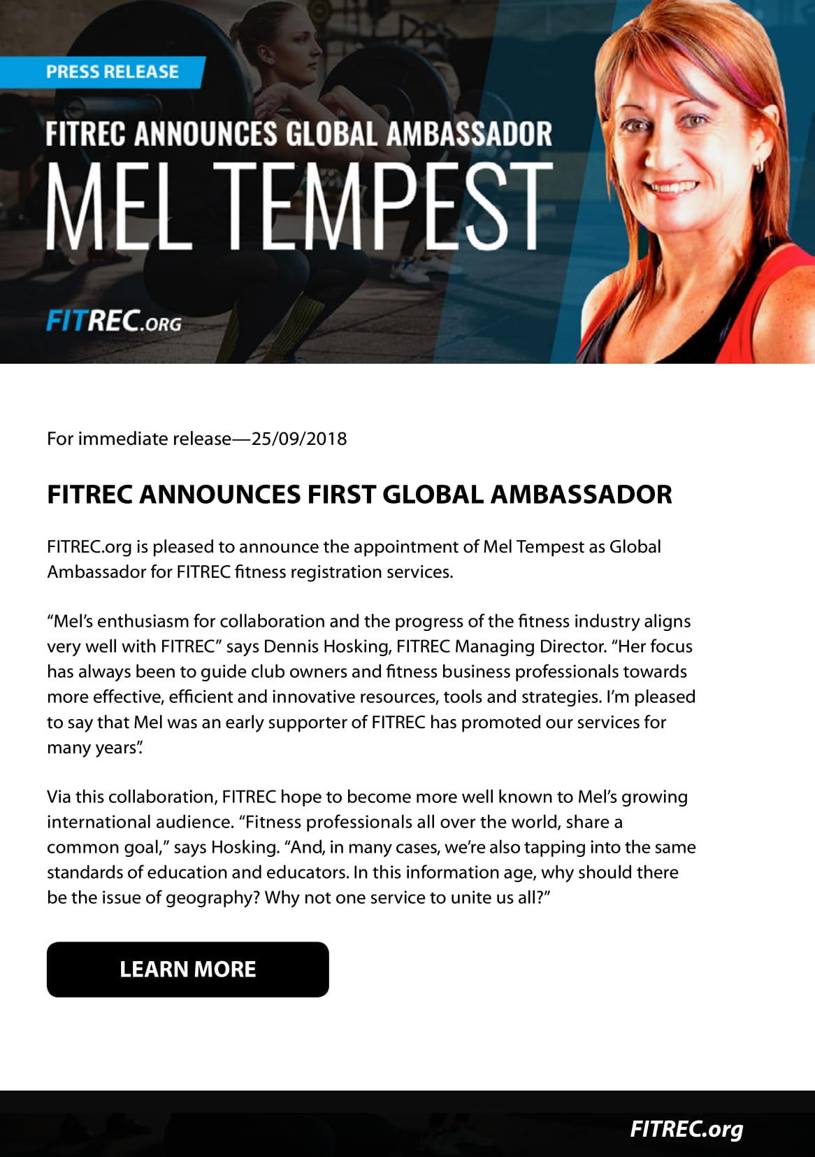 681b2dd025 Press Releases - Mel Tempest