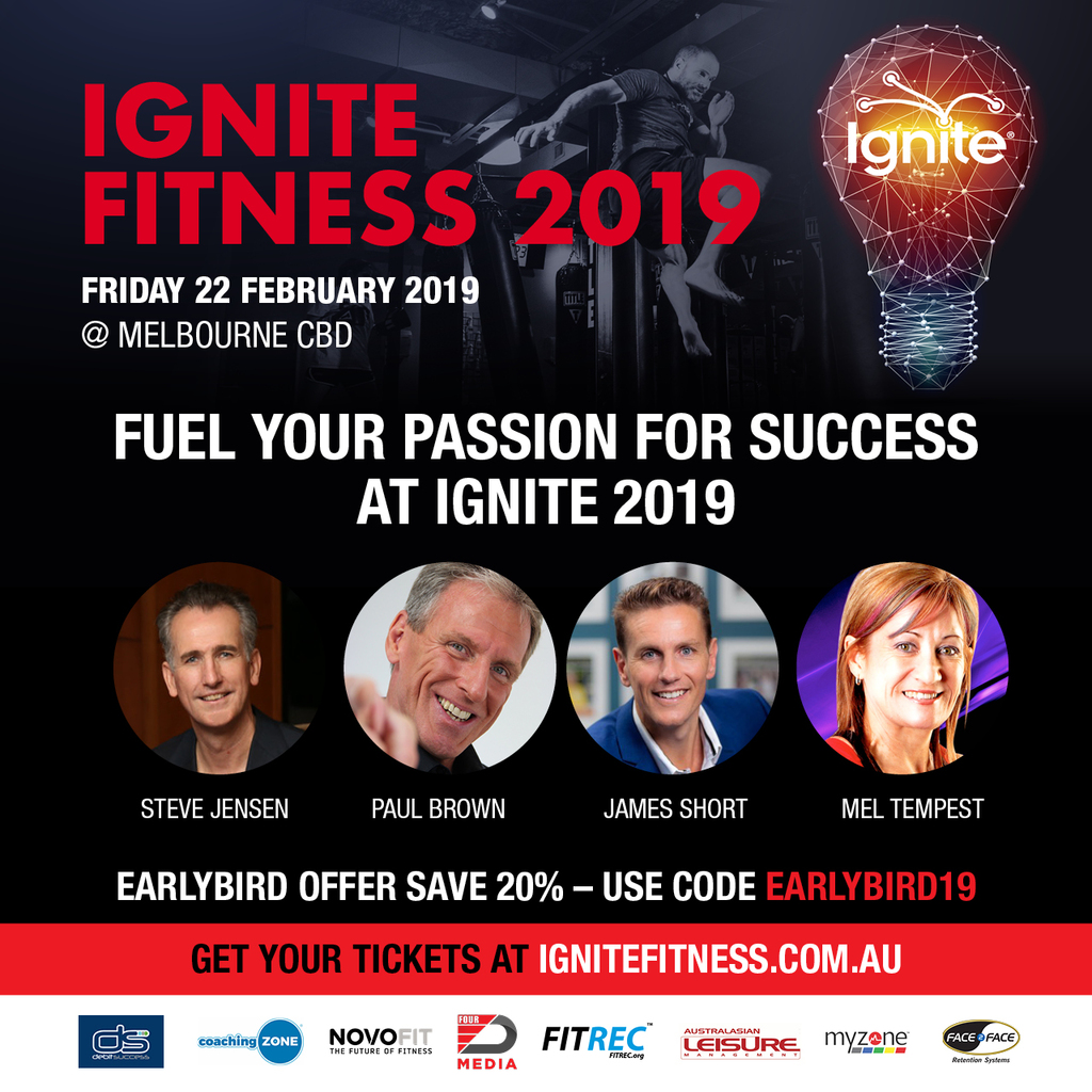 "Australia's First Fitness Business Ted Talk Style Event ""Ignite"""