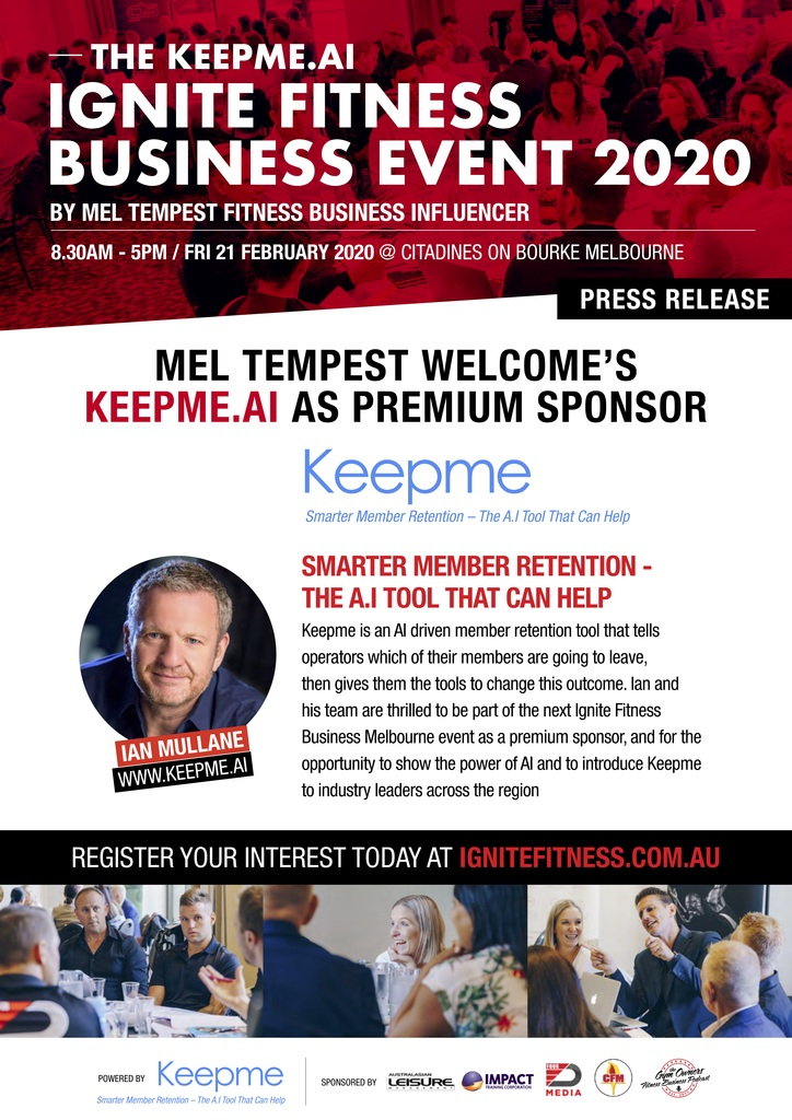 Fitness Business Event - Keepme.ai Retention Major Sponsor